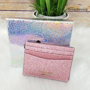 Kate Spade Lola Slim Card Holder Rose Pink Boxed